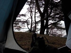 фото из палатки